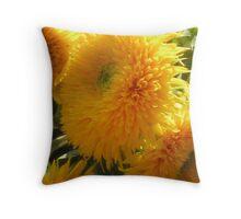 Yellow Flower Kiss Throw Pillow