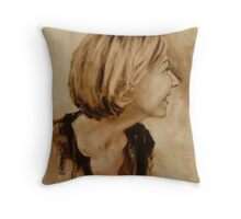 Fiona - lovely laughing side Throw Pillow