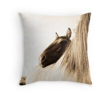 Sorraia Filly and Mare Throw Pillow