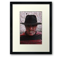 I'll get you in your dreams... Framed Print