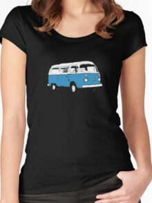 New Bay Campervan Blue Women's Fitted Scoop T-Shirt