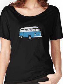 New Bay Campervan Blue Women's Relaxed Fit T-Shirt
