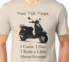 Veni Vidi Vespa Black Print Unisex T-Shirt