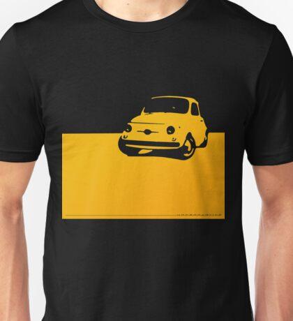 Fiat 500, 1959 - Yellow on black Unisex T-Shirt