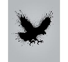 Abstract splashes of color - Street art bird (eagle / raven) Photographic Print