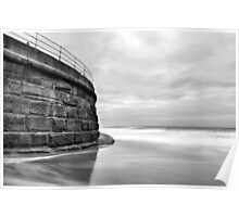 Sea Wall, Whitby Poster