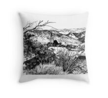 Virginia City Nevada 1976 Throw Pillow