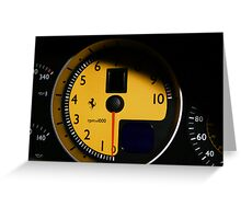 Ferrari F430 Cluster  Greeting Card