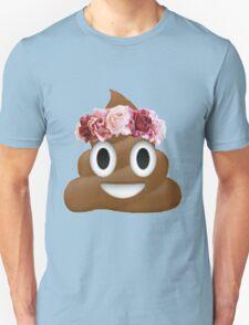 flower crown poop emoji hipster tumblr T-Shirt