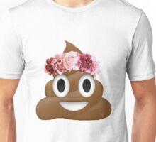 flower crown poop emoji hipster tumblr Unisex T-Shirt