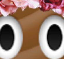 flower crown poop emoji hipster tumblr Sticker