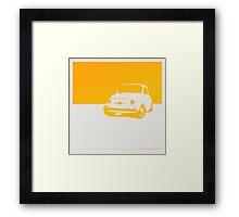 Fiat 500, 1959 - Yellow on white Framed Print