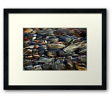 TUMALO FALLS ROCKS WATER FLOWING OVER Framed Print