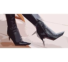 Spikey Boots Photographic Print