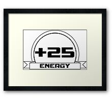 +25 Energy Framed Print