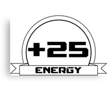 +25 Energy Canvas Print