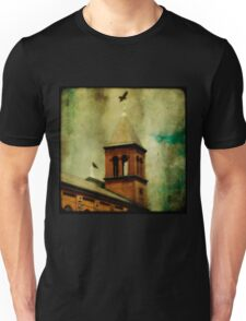Crows And The Old Church Unisex T-Shirt