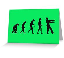 Evolution of Zombies (Zombie Walking Dead) Greeting Card