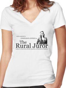 The Rural Juror Women's Fitted V-Neck T-Shirt