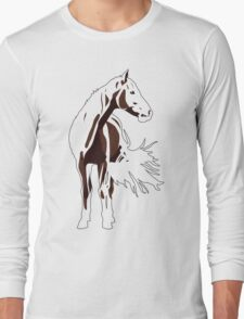 Red Rowdy / Riley Horse Long Sleeve T-Shirt