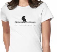 Bird on a wire Tee Womens Fitted T-Shirt