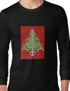 Celtic Christmas Tree Tee Long Sleeve T-Shirt