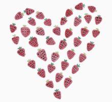 Strawberry Hearts Baby Tee