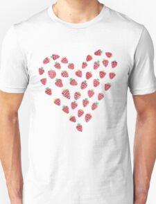 Strawberry Hearts Unisex T-Shirt