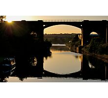 Bridges at sunset Photographic Print