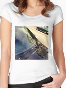 Trolley Lines Above And Across Women's Fitted Scoop T-Shirt