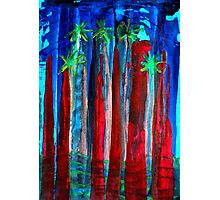 Palm Springs Nocturne original painting Photographic Print