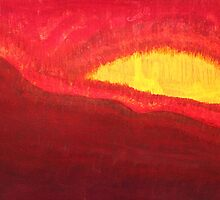 Wildfire Eye original painting by CrowRisingMedia