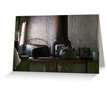 Cooking in Gwalia Greeting Card