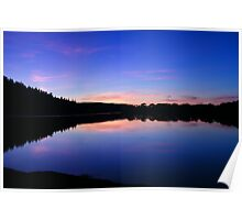 Dusk, Keswick Lakes Poster