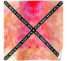 """Salt Sun & Fun"" Typography on Watercolor Hibiscus Poster"