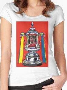 Alexis Sanchez / 2015 FA Cup Winners Women's Fitted Scoop T-Shirt