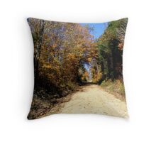 Green Tunnel Revisited Throw Pillow