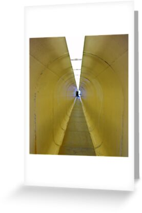 Tunnel to Observation Deck of Old Iron Mine in Butte, Montana by Susan Russell