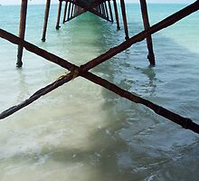 Under the jetty  by Bill  Cull