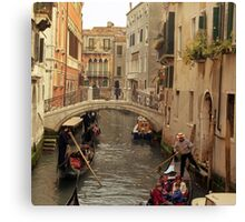 Rush Hour In Venice  Canvas Print