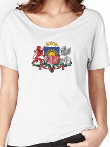 Coat of Arms of Latvia  Women's Relaxed Fit T-Shirt