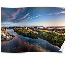 Sunset Reflections at Wreck Beach II Poster