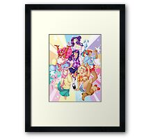 Humanized My Little Pony Framed Print