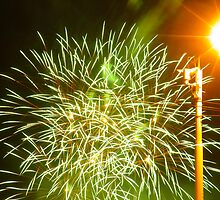 Fireworks at riverside by TIQA