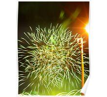Fireworks at riverside Poster
