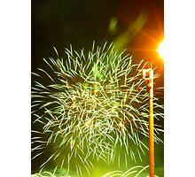 Fireworks at riverside Photographic Print