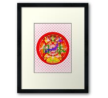 Infinite Love Series- JAPAN mandala of Love Framed Print