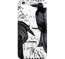 Black Birds Original Hand Pulled Linoleum Print iPhone Case/Skin