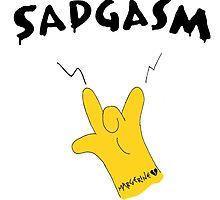 SADGASM The Simpsons design  by deedoubleyoo