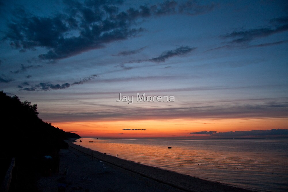 Friendship Beach, Rocky Point, New York Sunset by Jay Morena
